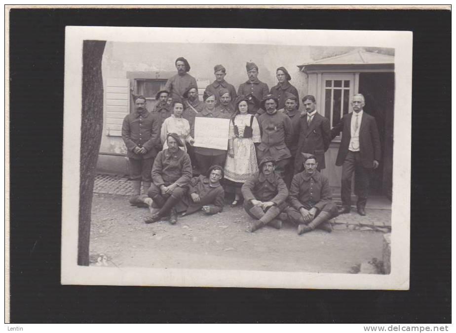 """Photo Originale  - Militaires - """"  65è  Souvenir D'alsace"""" - Krieg, Militär"""