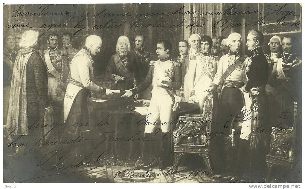 CONFERENCE DES EMPEREURS NAPOLEON ET ALEXANDRE A ERFURT SERIE 208 Bis N° 7 - Histoire