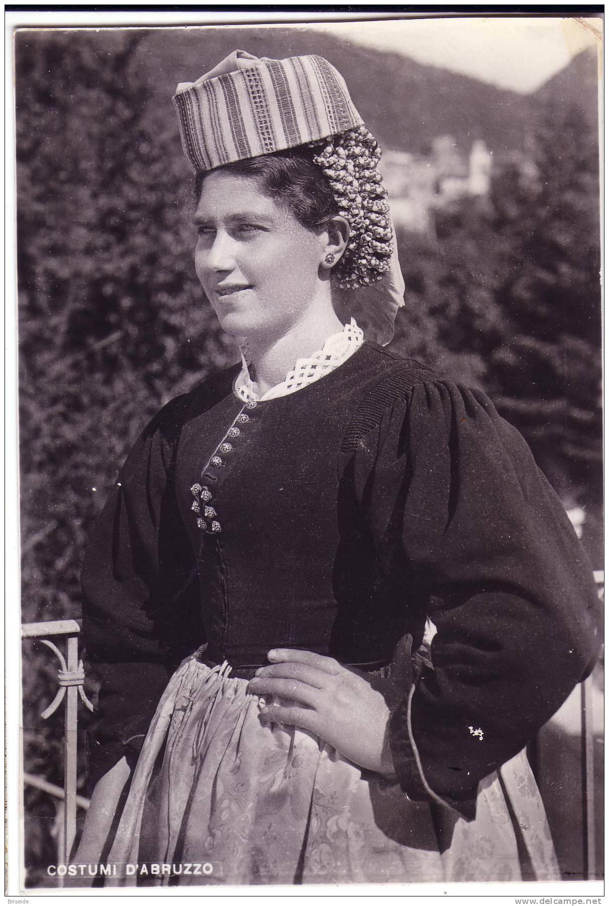 COSTUMI ABRUZZO L´AQUILA COSTUME D´ABRUZZO F/G LUCIDO VIAGGIATA 1955 - Costumi