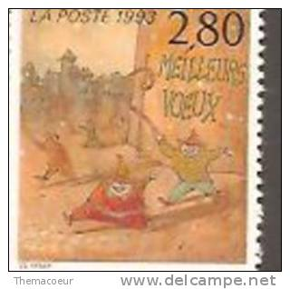 Stamp France  Meilleurs Voeux Happy New Year Lutinselves - Nouvel An