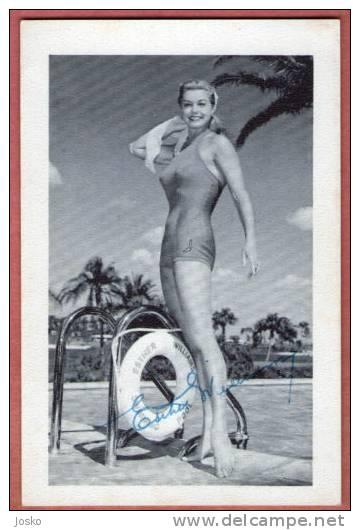 ESTHER WILLIAMS  - American Film Actress * HAND SIGNED PHOTO * ORIGINAL 100% AUTOGRAPH Autographe Autogramm Autografo - Autographs