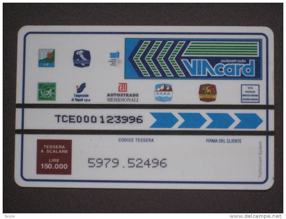 VIACARD 029 - CASELLO - LIRE 150.000 TECHNICARD - Non Classificati