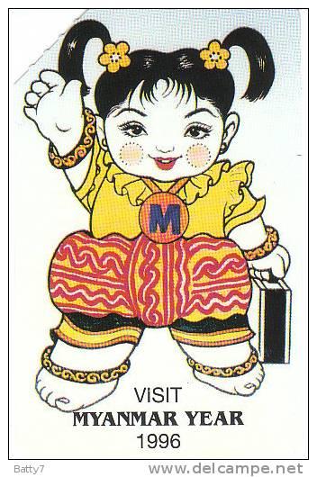 BIRMANIA 1996 - PHONE CARD - - Schede Telefoniche