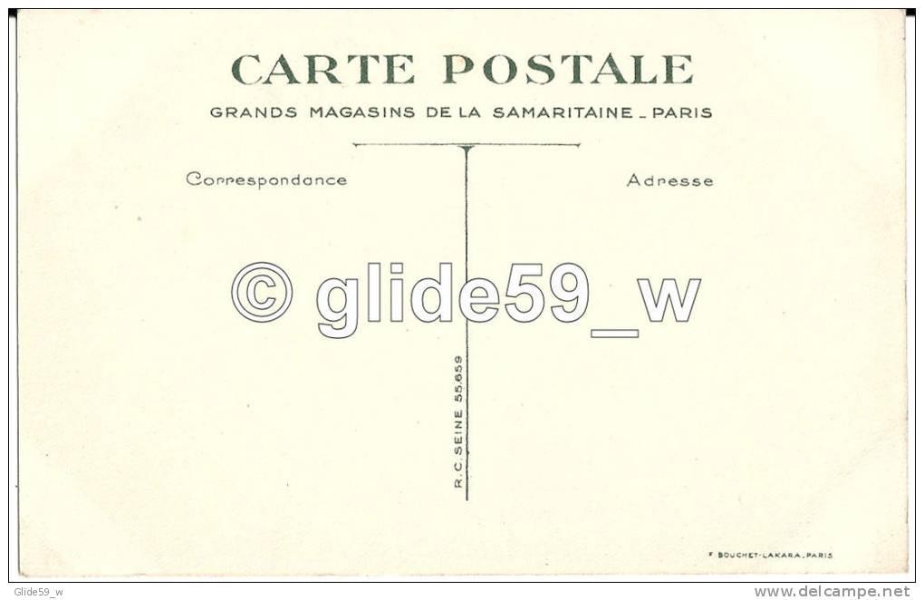 Carte Publicitaire Grands Magasins De La Samaritaine - Paris - La Vie Au Grand Air - La Baignade - Padvinderij