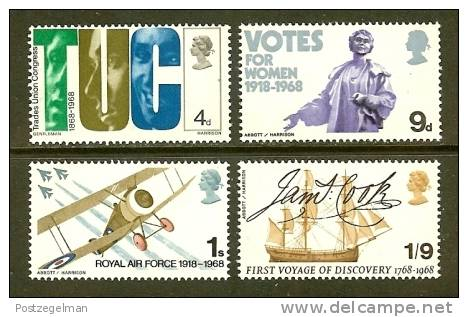 UK 1968 MNH Stamp(s) Mixed Issue 485-488 - 1952-.... (Elizabeth II)