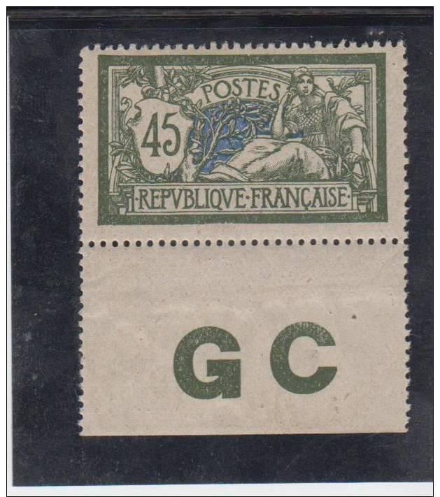 MERSON N° 143 * SUR PAPIER CG BORD DE FEUILLE     (scanne - Nuevos