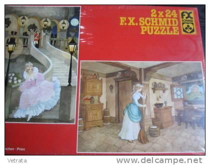 2 Puzzles Cendrillon (2x24 Pièces, 30x21 Cm) Schmidt - Puzzles