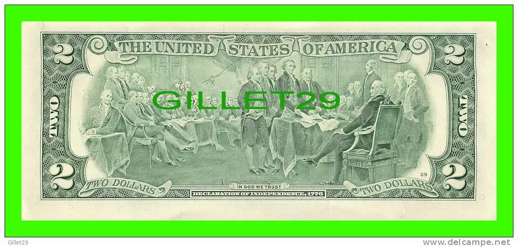 USA BILL - TWO DOLLARS UNITED STATES BILL - SERIES 2003 - E 09228411 A - GREEN SEAL  - MINT CONDITION - - Billets De La Federal Reserve (1928-...)