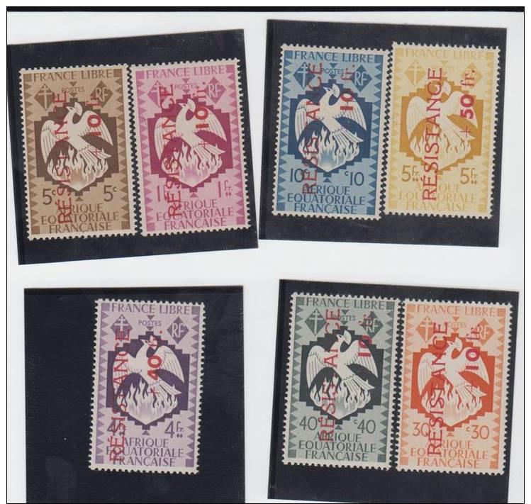 A E.F. N° 177.178.180.181.182.185.186 SURCHARGE RESISTANCE - Sin Clasificación