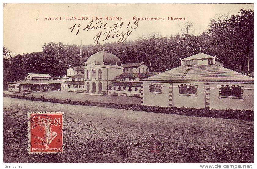 SAINT-  HONORE  -  LES  -  BAINS      -  ETABLISSEMENT   THERMAL - Francia