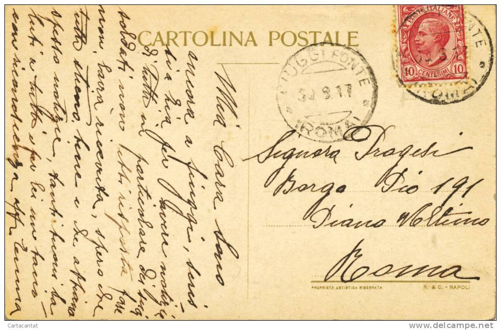 FIUGGI. PALAZZO DELLA FONTE.  CARTOLINA DEL 1917 - Italy