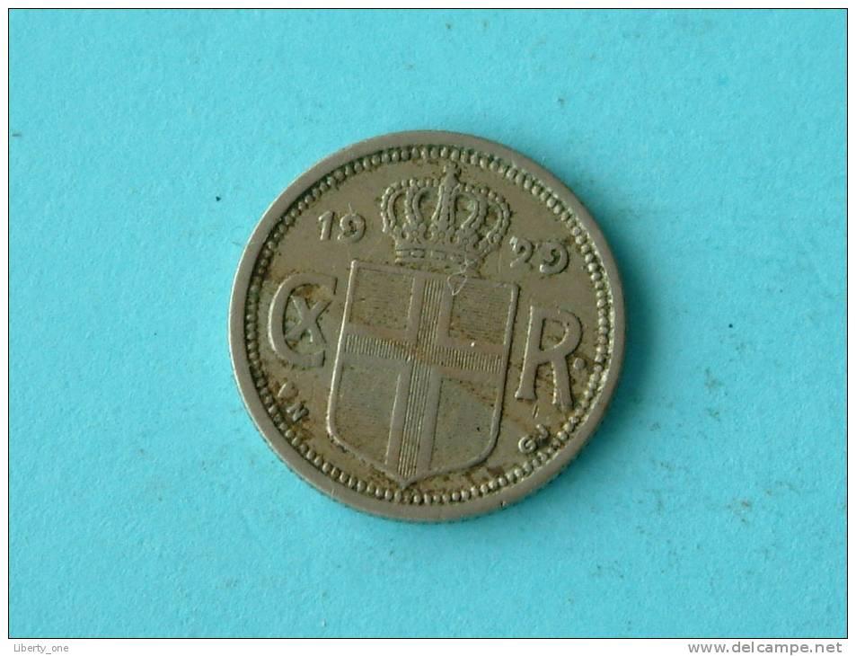 1929 - 10 AURAR / KM 1.1 ( Uncleaned Coin / For Grade, Please See Photo ) !! - Islandia