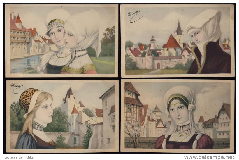 A SAISIR ! Lot De 10 CPA Fantaisie M.M. VIENNE N°137 FEMMES MEDIEVALES - Vienne