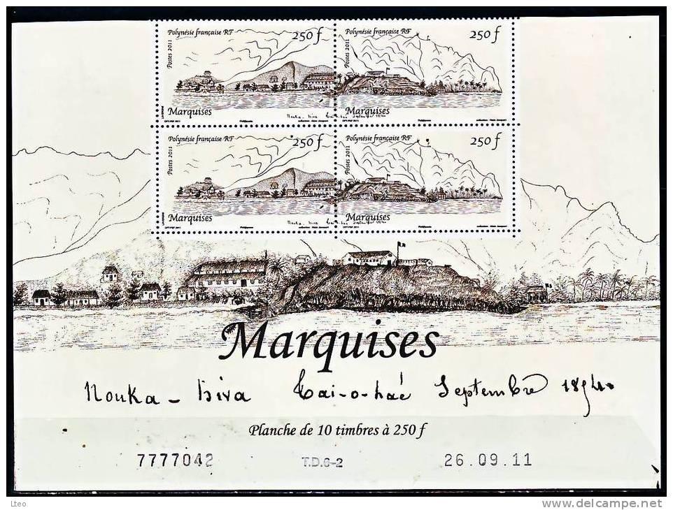 Polynésie 2011 Les Marquises ( Bloc 4 Numéroté Et Daté ) - Polynésie Française