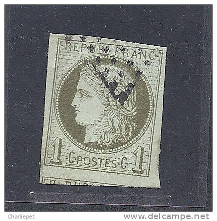 French Colonies Scott # 16 Used Large Margins   Catalogue $14.50 - Ceres