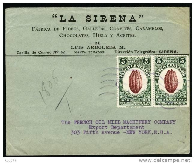 1930 Ecuador. Cover Sent To New York.  (H202c025) - Ecuador