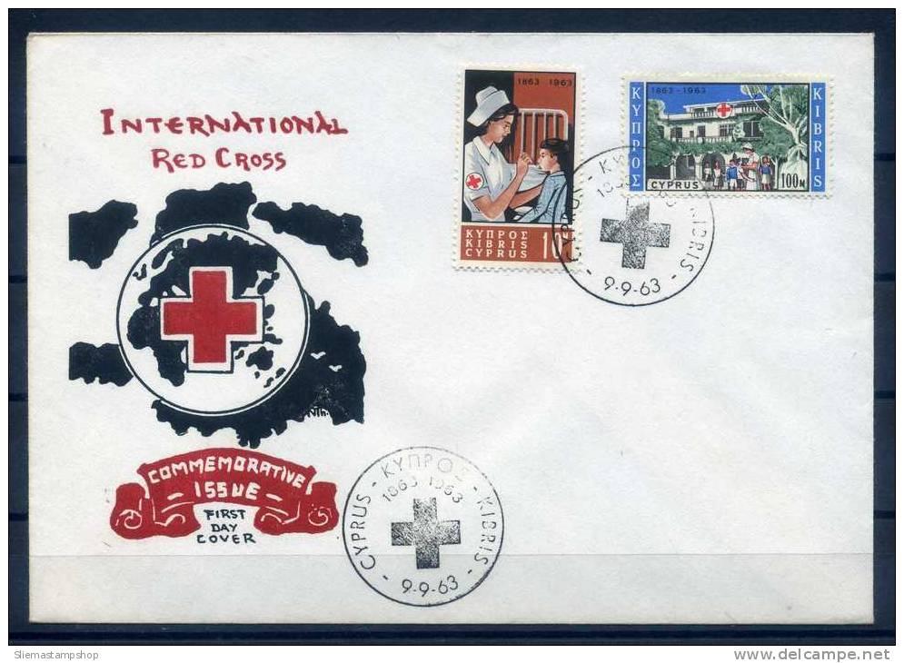CYPRUS - 1963 INTER. RED CROSS FDC - J4623 - Chypre (République)