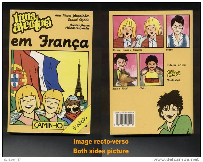 Livre Book Livro Uma Aventura Em França 5ème Édition N° 28 Ouvrage En Portugais 1999 CAMINHO - Livres, BD, Revues