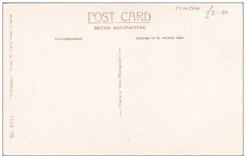 Vintage PC - Film Star Ray Milland - Real Photo Postcard