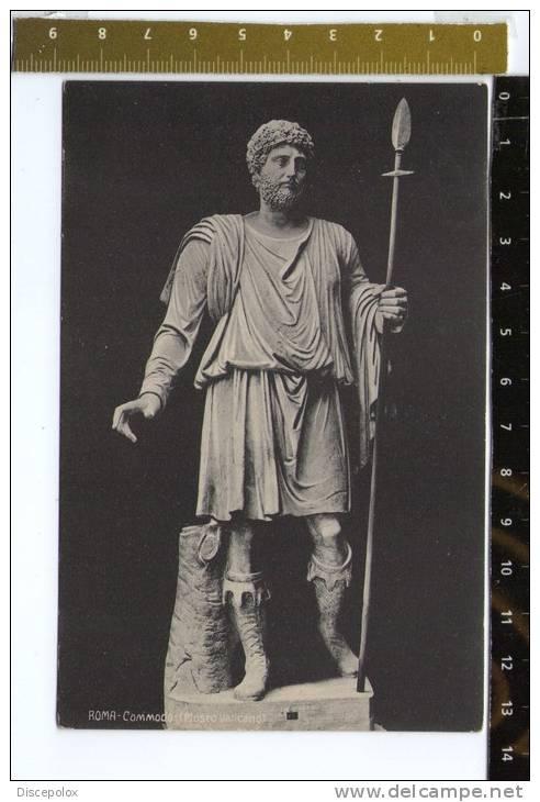 E842 Roma - Museo Vaticano - Commodo - Old Mini Card / Non Viaggiata - Sculture