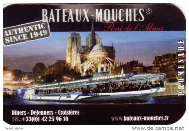 Paris - Bateaux-mouches Used Boat Ticket 2011 - Schiffstickets