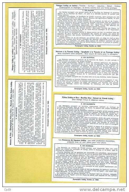 SERIE LIEBIG INCOMPLETE N° 1626 - PEUPLADES DU CONGO BELGE - ANNEE 1955 - SERIE DE 6 AU LIEU DE 18 - Liebig