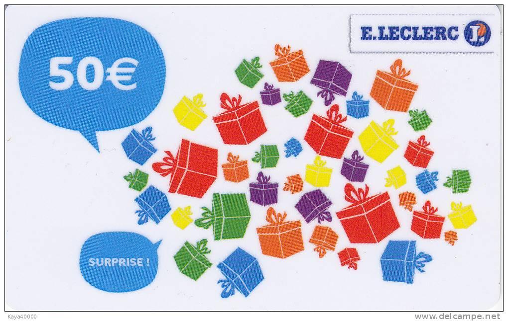 leclerc surprise 50 eu gift card carte cadeau giftcard carta regalo cadeaukaart. Black Bedroom Furniture Sets. Home Design Ideas