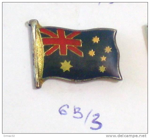 AUSTRALIA AUSTRALIE Australien Pin - Flag Flagge Banner Drapeau Et Palan, Flagstaff / Blazon Blason - Cities