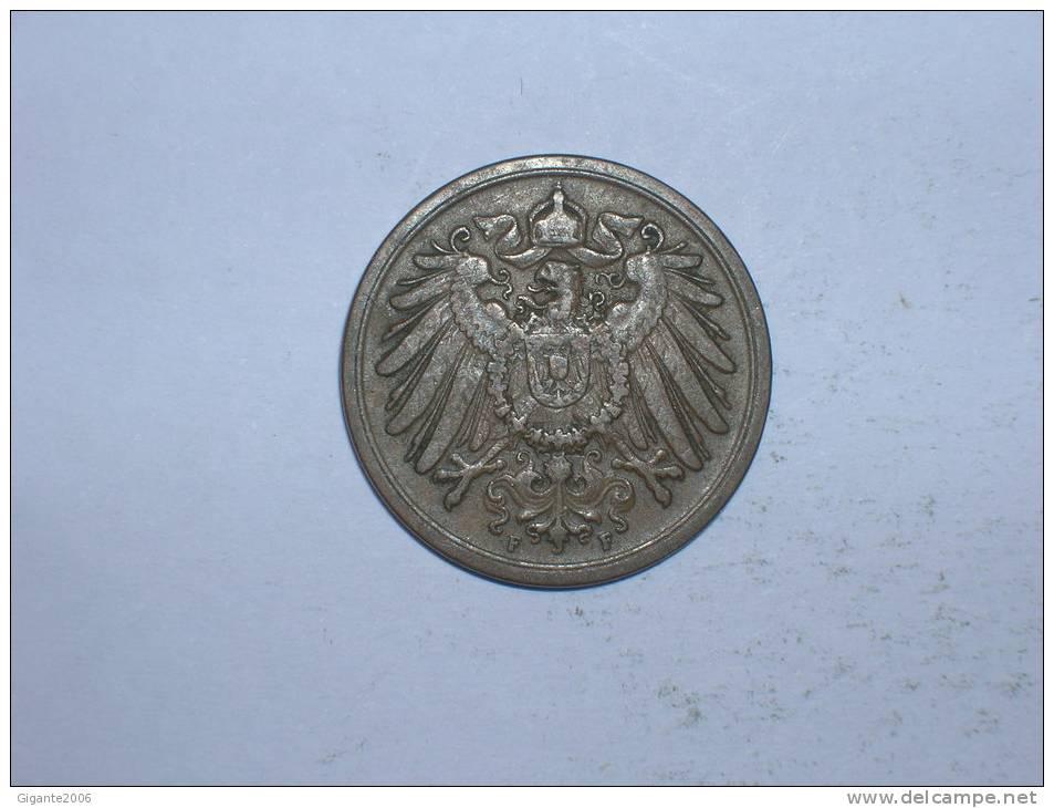 2 Pfennig 1905 F (205) - [ 2] 1871-1918 : Imperio Alemán