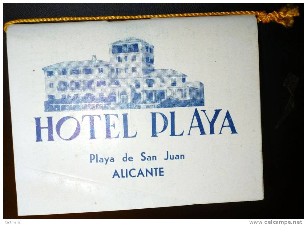 CALNDRIER ALMANAQUE FIESTA BRAVA TAUROMACHIE TORERO ESPANA TAURINA TOROS HOTEL PLAYA ALICANTE - Sin Clasificación