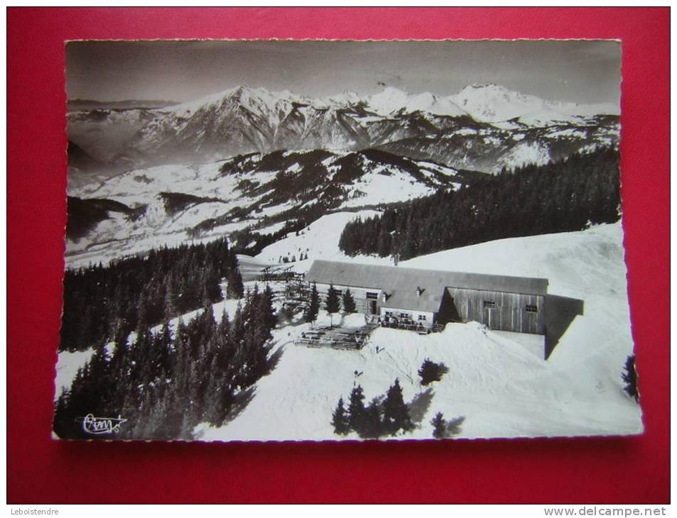 CPSM-74-LES CARROZ D´ARACHES-STATION SUPERIEURE (LA KEDEUZA ALT 1800M)-VUE AERIENNE-VOYAGEE 1971 - Autres Communes