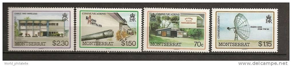 Montserrat 1986 N° 628/31 ** Communication, Radio, Antenne Parabolique, Radio-Antilles, Batiments, Canon - Montserrat
