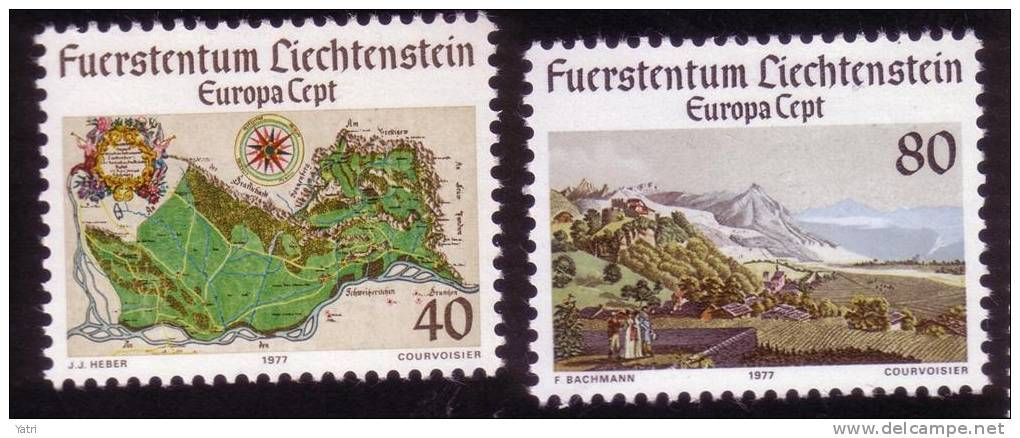 Cept 1977 Liechtenstein  ** - 1977