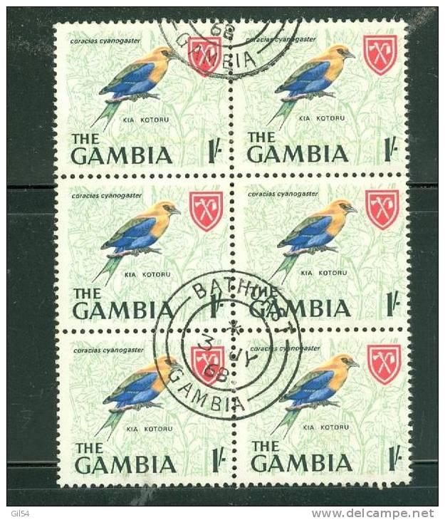 Gambie Yvert N° 215 OBLITERE En Bloc De 6   - Ah3301 - Gambie (1965-...)