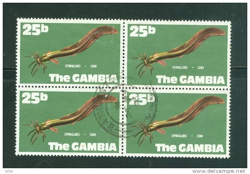 Gambie Yvert N° 252 OBLITERE En Bloc De 4   - Ah3302 - Gambie (1965-...)