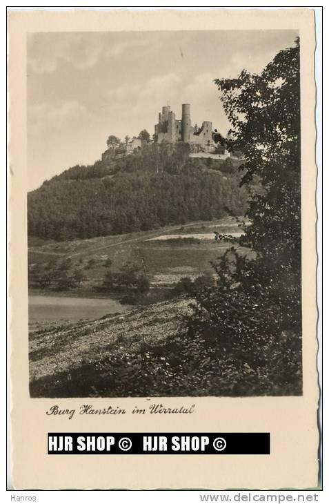 """Um 1950/1960 Ansichtskarte  """" Burg Hanstein"""" , Ungebrauchte Karte - Monumentos"""