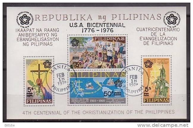 Philippinen, Bl.9 A , O  (849)* - Filippine