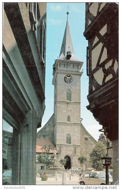 B47522 Öhringen Marktstrasse Mit Stiftskirche Used Perfect Shape - Oehringen
