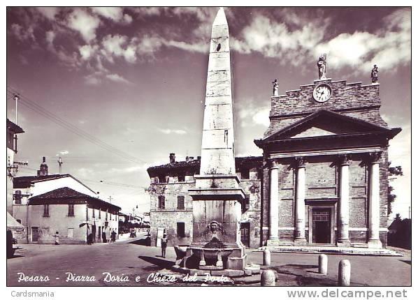 Pesaro(Pesaro-Urbino)-Piazza Doria E Chiesa Del Porto-1964 - Pesaro