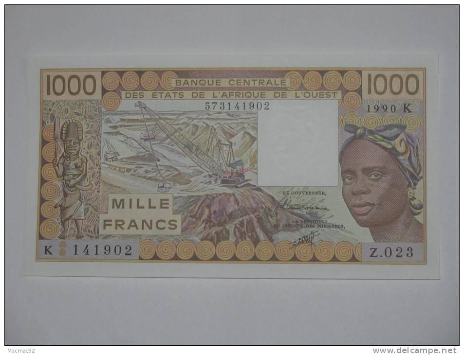 1000 Francs 1990 K (Sénégal) Banque Centrale Des Etats De L'Afrique De L'Ouest - Senegal