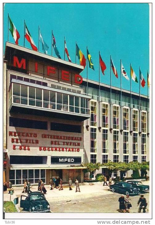 MIFED - MERCATO INTERNAZIONALE FILM E DOCUMENTARIO - MILANO  1966 - TIMBRO POSTE MILANO FIERA SU CARTOLINA  DEDICATA - Non Classificati