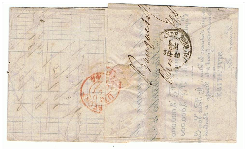 20 LP 77 Charleroy (11 Gr = 2 Ports Préférentiels) Sur Lettre Du 29 Oct 67 Vers Utrecht; Au Verso : Hollande Nord N° 1 - 1865-1866 Profile Left