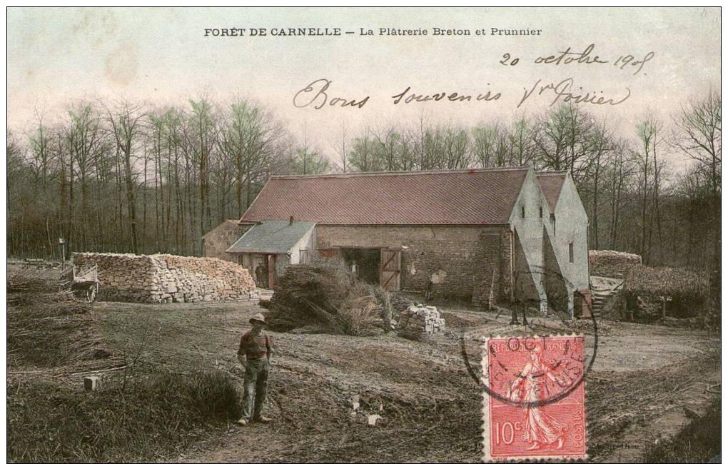 (UU)  CPA  Carnelle Foret  Platrerie Breton Et Prunnier  (bonne Etat) - France