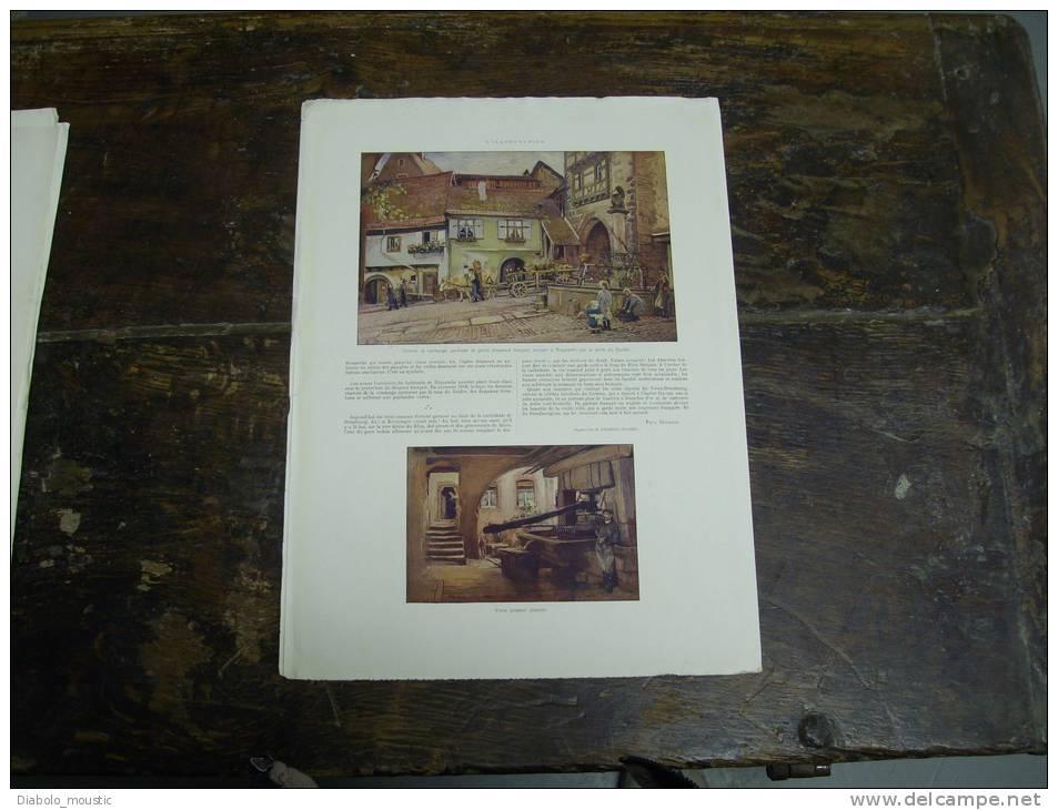 Fascicule De 92 Ans D´âge  ,Le Vin De La Victoire En ALSACE ( Riquewihr,Hunawirh, Strasbourg ) Issu De  L´ ILLUSTRATION - Seizoenen En Feesten