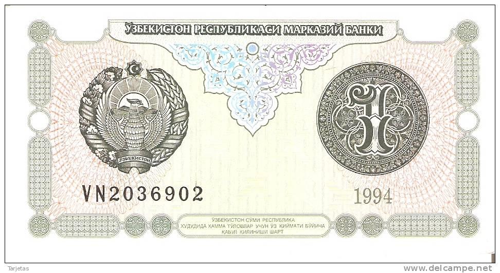 BILLETE DE UZBEKISTAN DE 1 SUM  AÑO 1994   (BANKNOTE) NUEVO SIN CIRCULAR - Uzbekistán