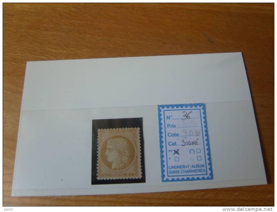 36 NEUF SIGNE CALVES  COTE 950 EUROS - 1870 Siege Of Paris
