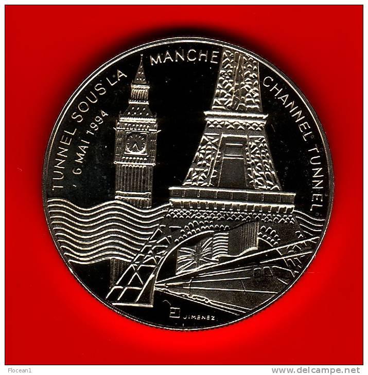 **** MEDAILLE TUNNEL SOUS LA MANCHE - CHANNEL TUNNEL - 6 MAI 1994 NEUVE **** EN ACHAT IMMEDIAT !!! - Touristiques