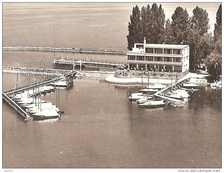 ESTAVAYER-le-LAC Et Son Port Vue Aerienne Flugaufnahme Ca. 1960 - FR Fribourg