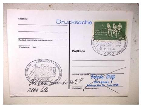 Postkarte Mit Sst Sonderstempel 1976 Osnabrück - BRD