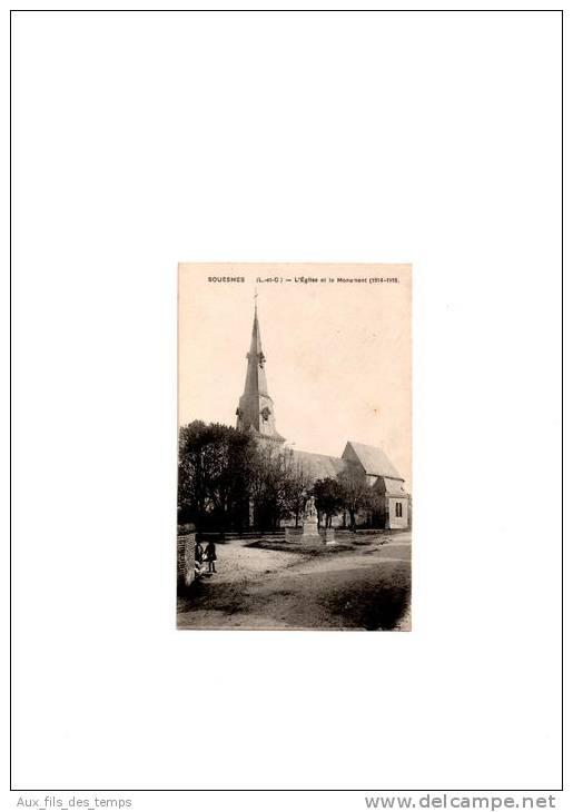 41 - SOUESMES - L´Eglise Et Le Monument (1914-1918) - Sonstige Gemeinden